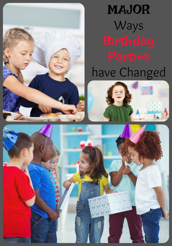 MAJOR Ways Birthday Parties have Changed