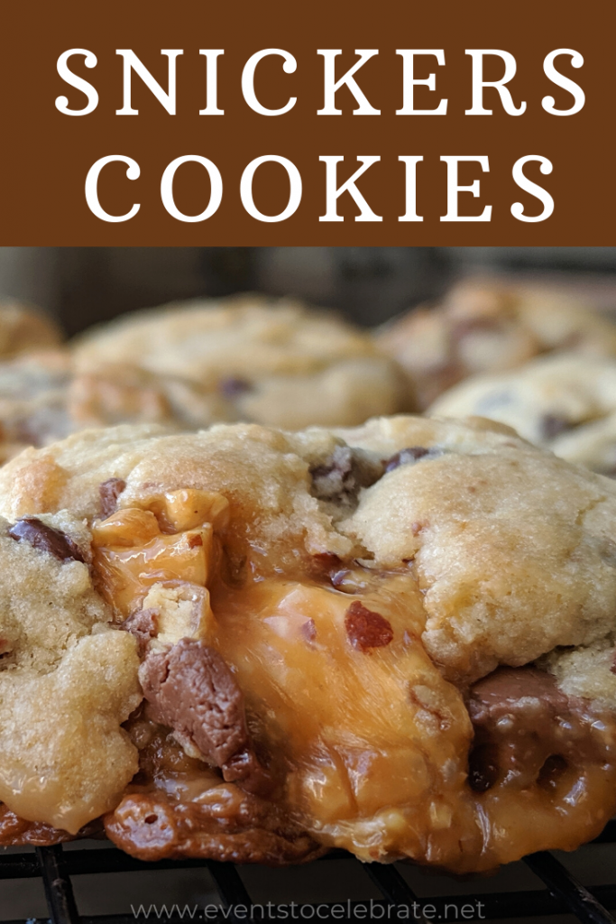 This crumbl copycat snickers cookie recipe taste like straight from the bakery!