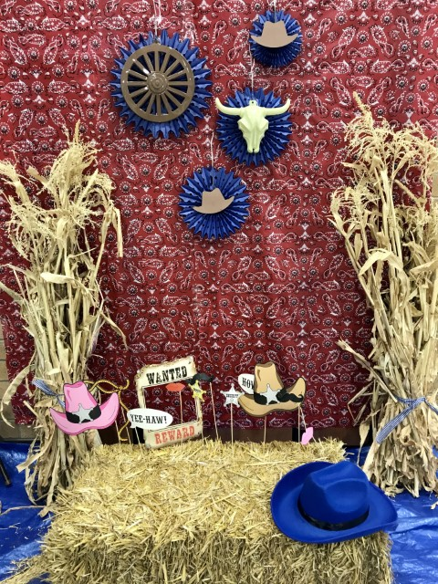 western theme photo booth