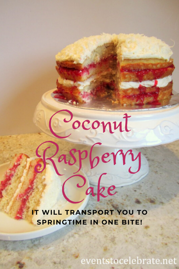 Coconut Raspberry Cake
