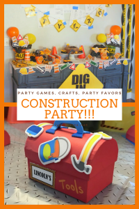 Construction party ideas for a kids party
