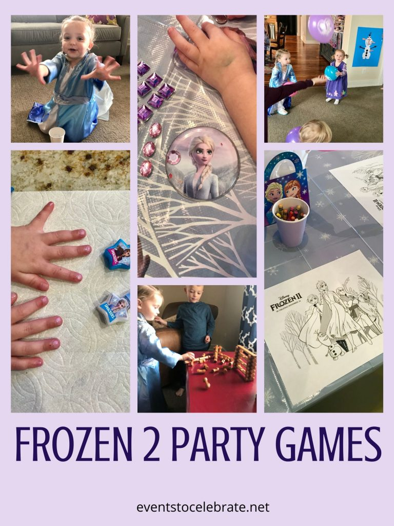 frozen 2 party food and games