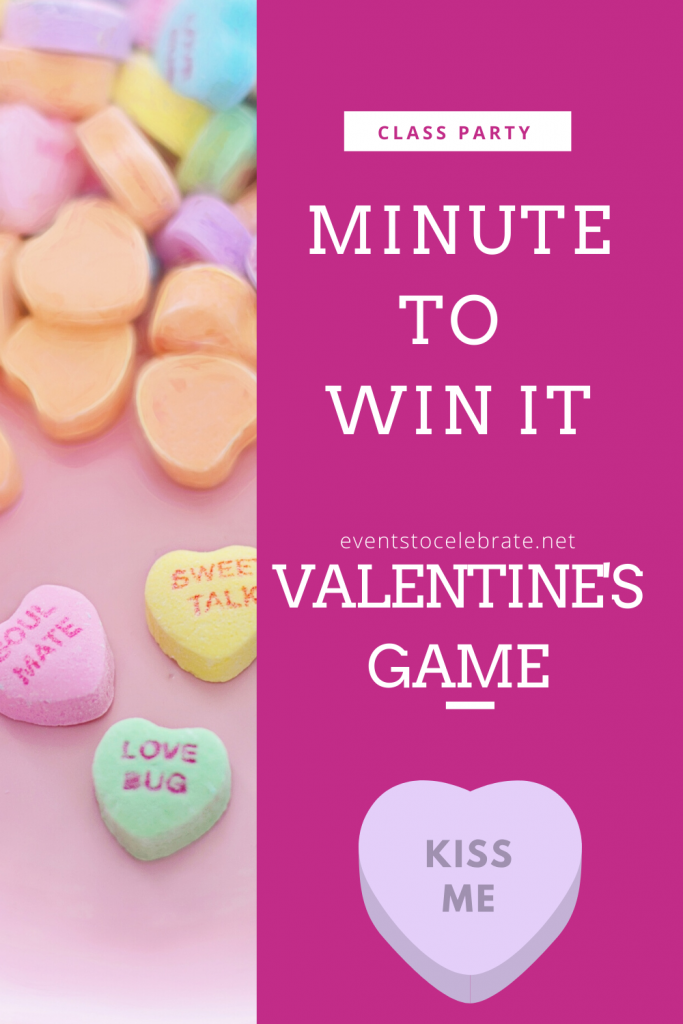 Minute to win it Valentine's party game ideas