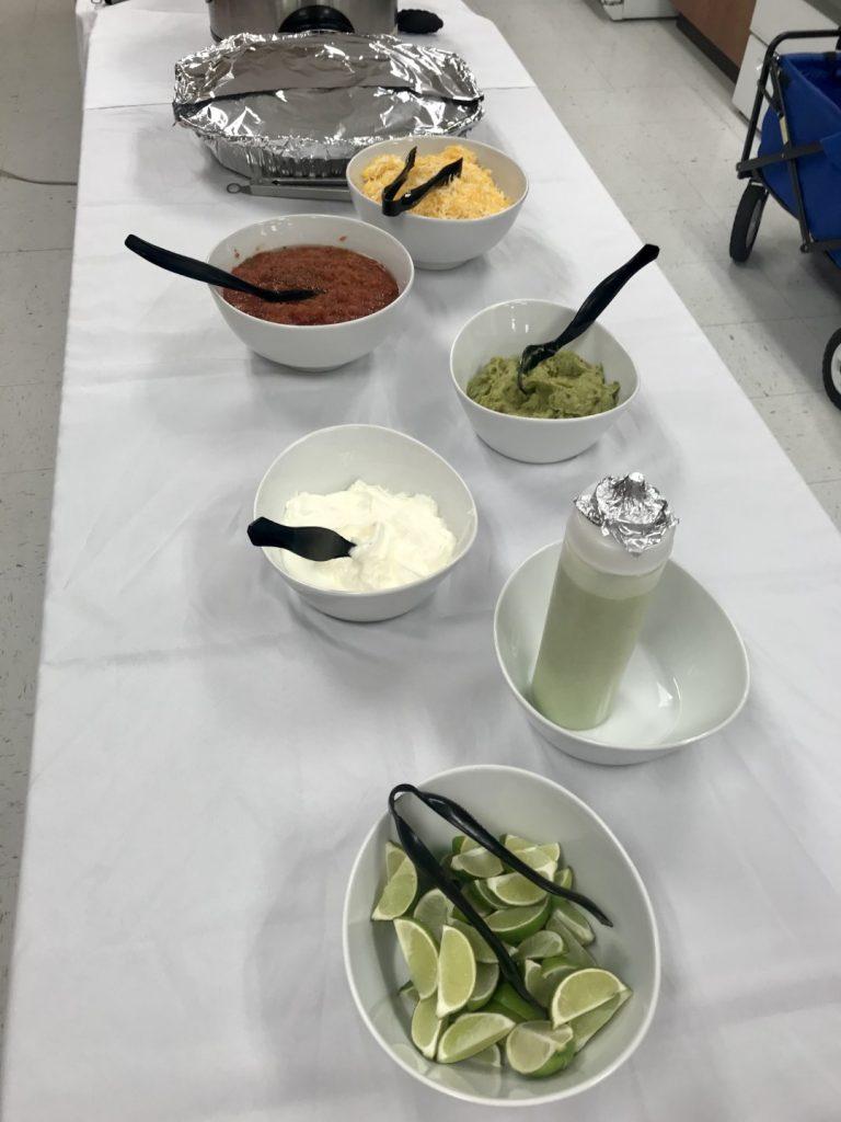 Copycat cafe rio buffet for a teacher luncheon