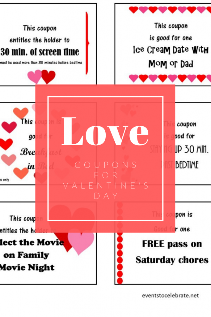 Love Coupons for your kids