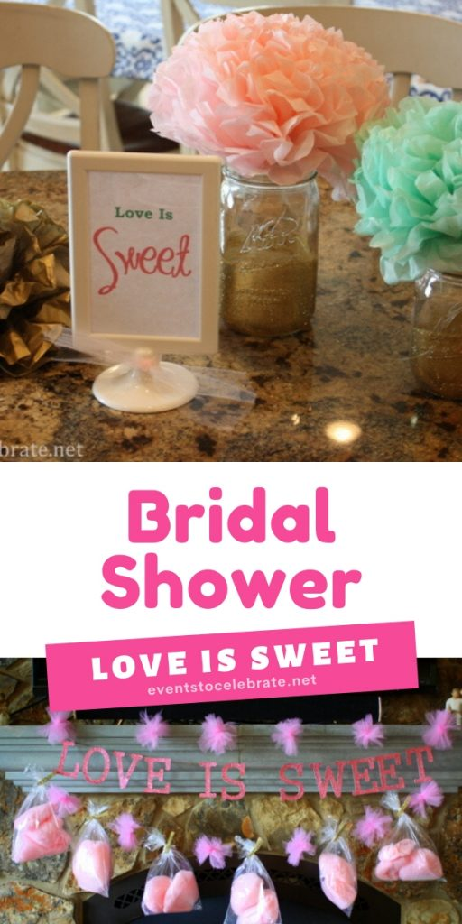 Bridal shower love is sweet