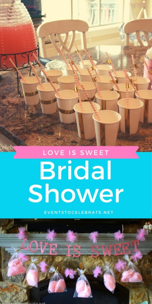 Bridal shower party ideas Love is sweet theme