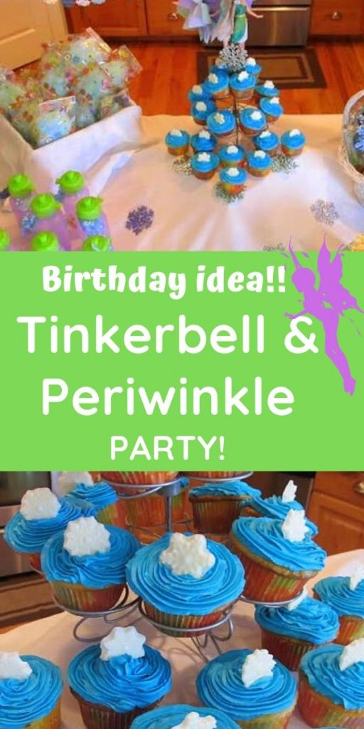 Tinkerbell and periwinkle birthday party ideas