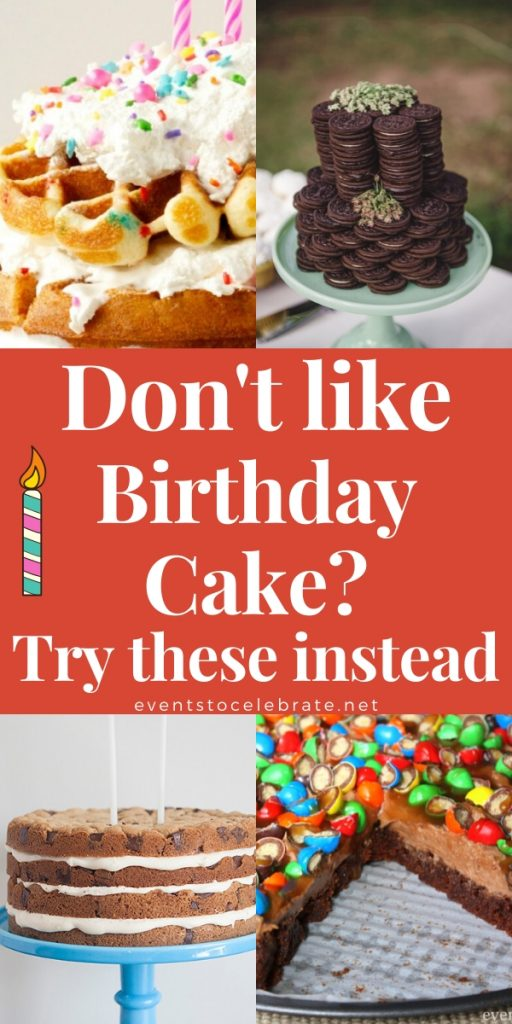 Birthday cake alternatives