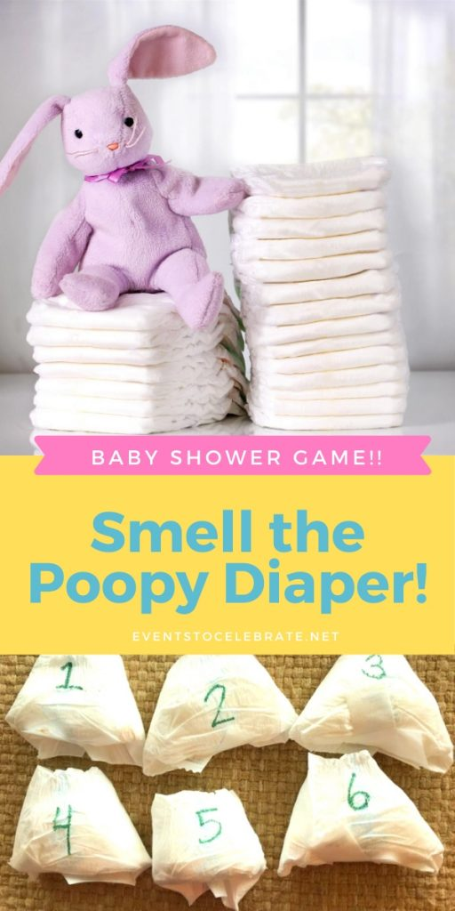 poopy diaper baby shower game
