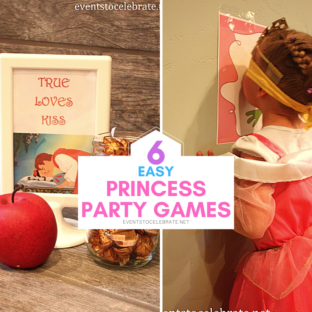 6 Fun and simple Disney princess party games.