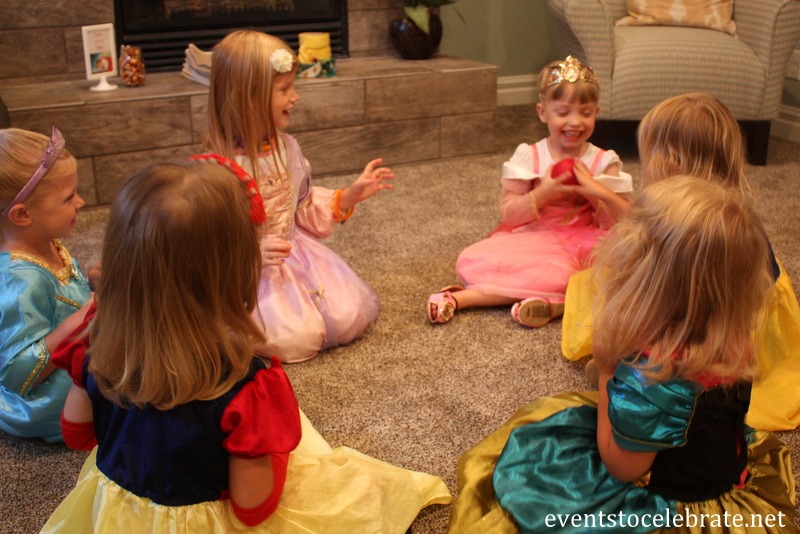 Pass the apple sleeping beauty party game