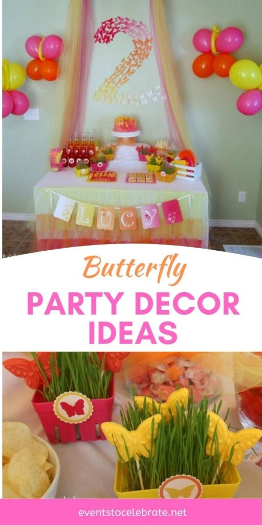 Girls Butterfly Party Decor Ideas