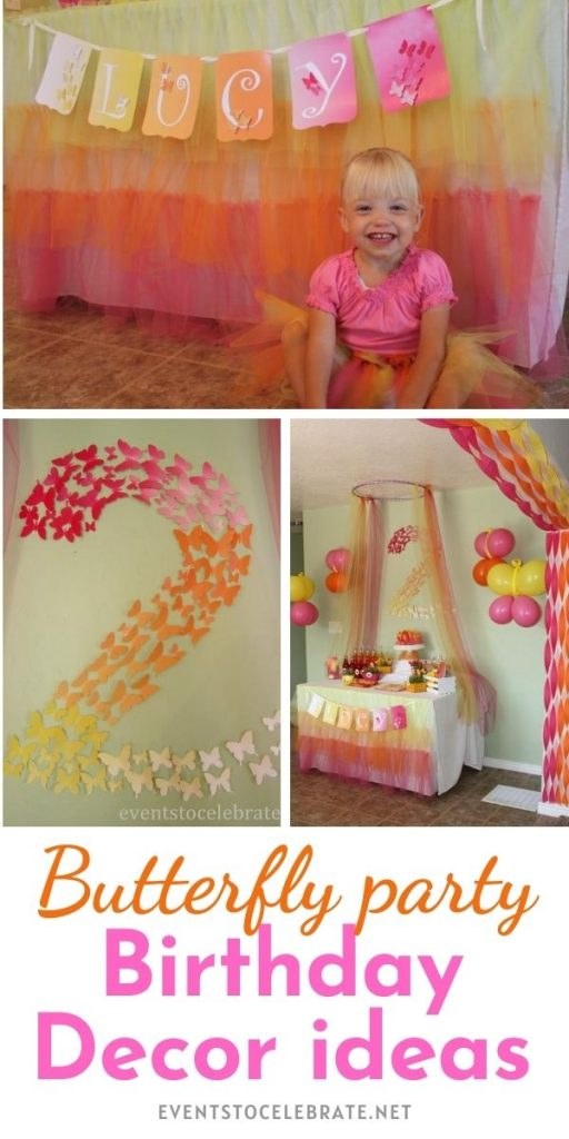 Girls party decor