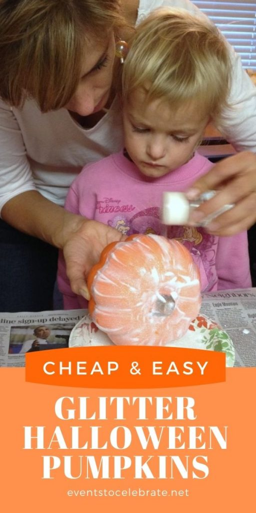 Cheap and easy glitter pumpkin