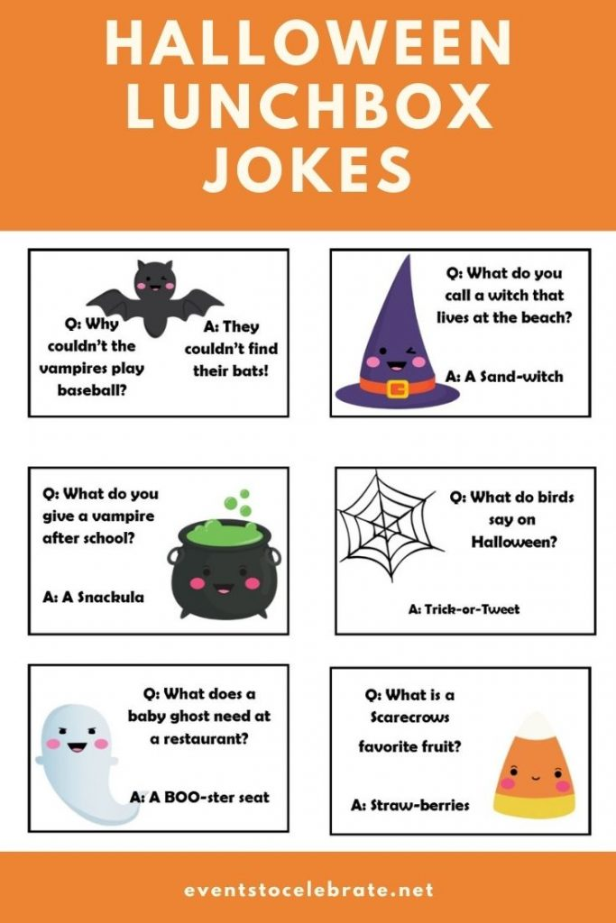 Printable halloween themed lunch box jokes