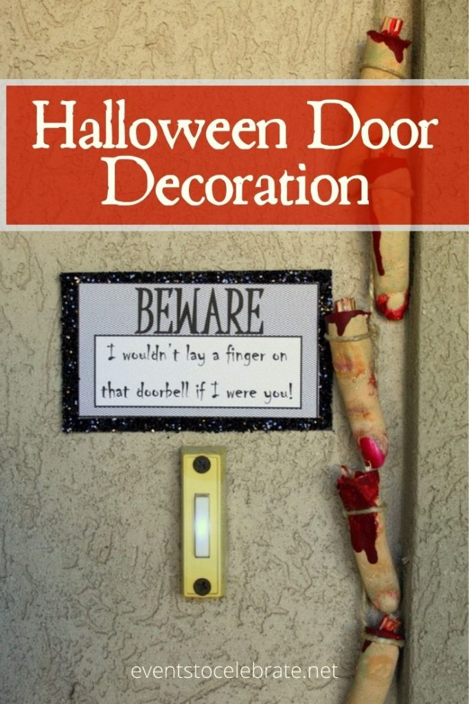 Halloween door decoration idea