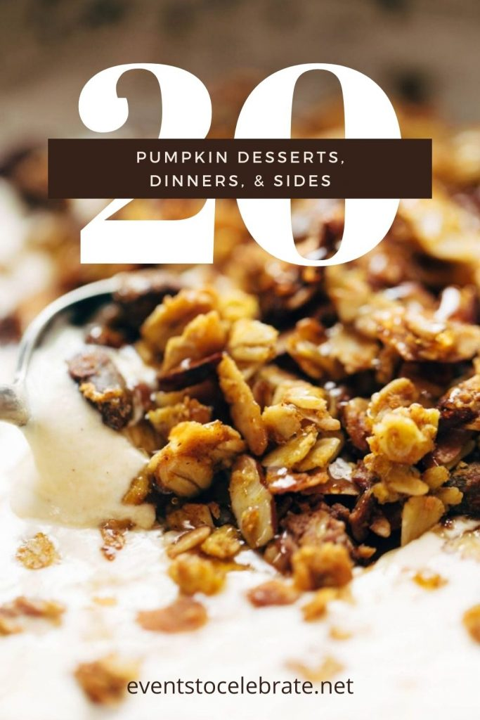 20 pumpkin desserts, dinners, and sides