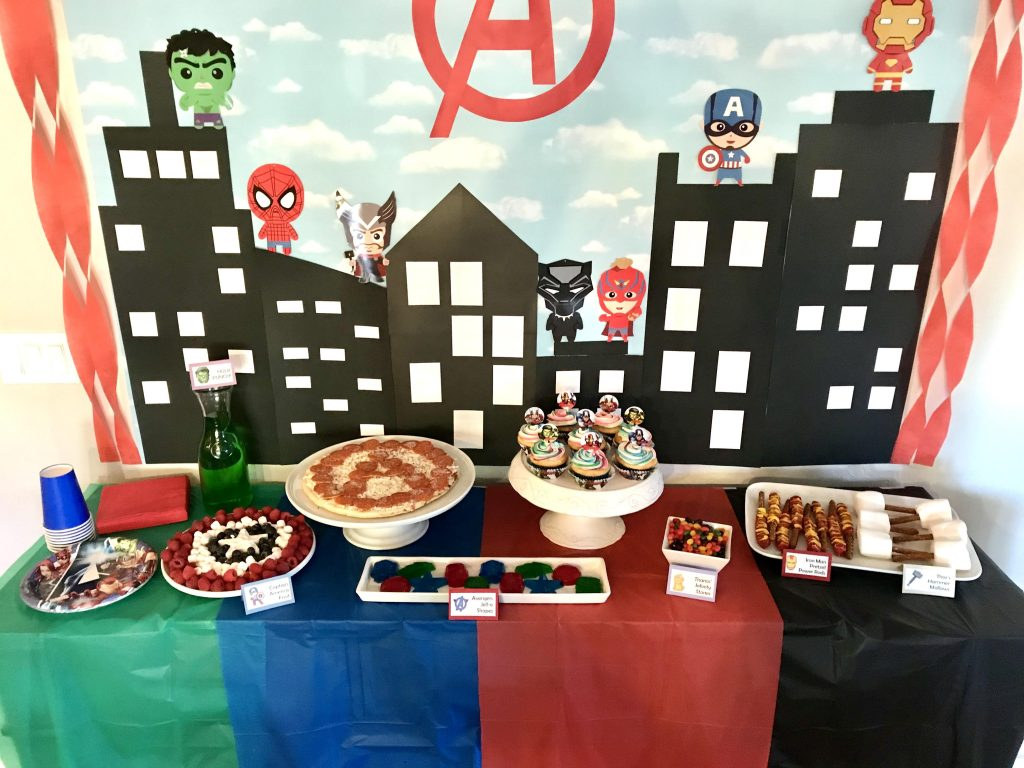Avengers Birthday Party Food Ideas
