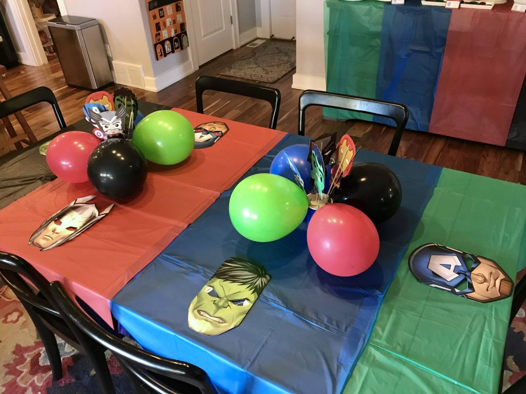 Avengers Party Table Decorations