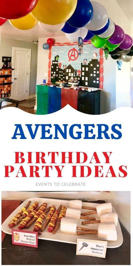Avengers birthday party ideas food decor and games