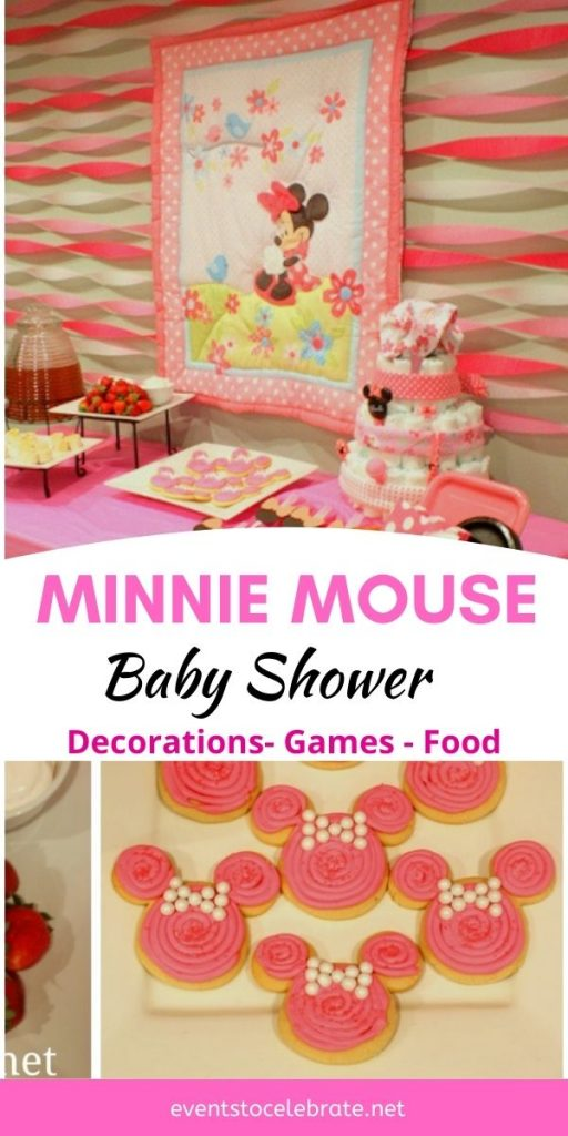 decorations food and games for a minnie mouse baby shower