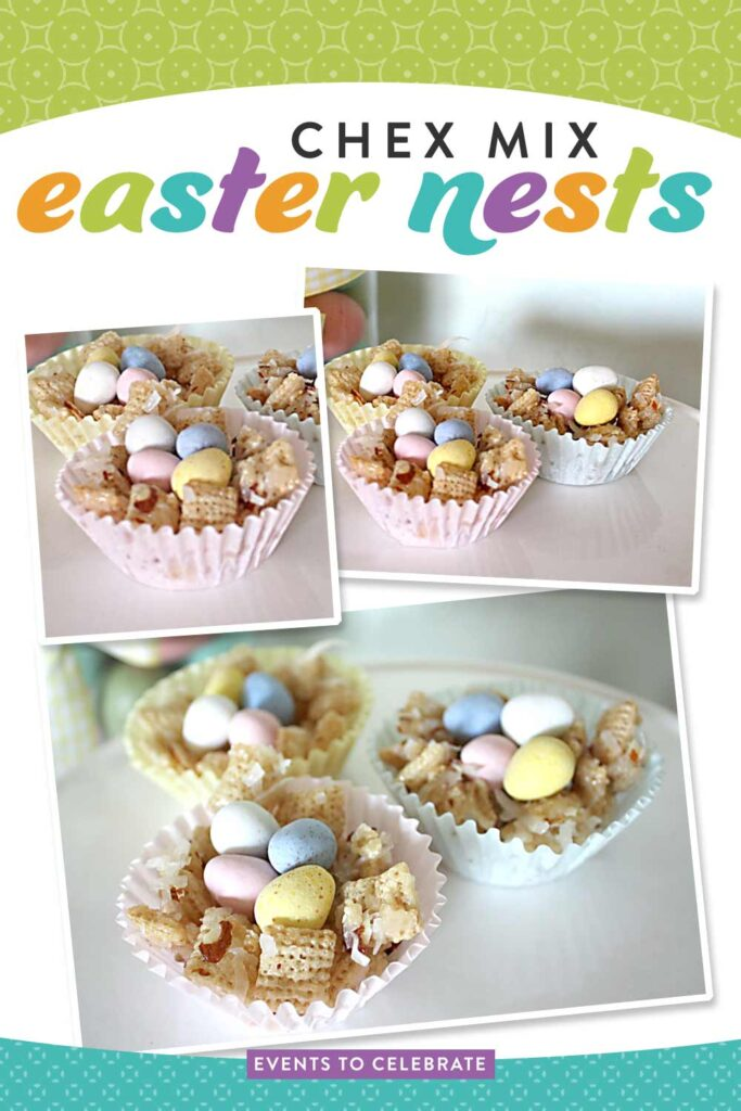 DIY Chex Mix Easter Baskets treat for Easter