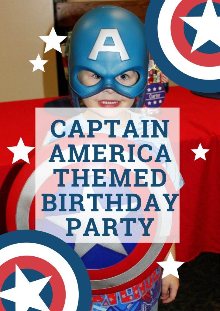 Captain America Themed Birthday Party
