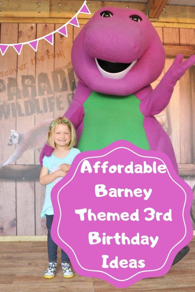 Barney Themed 3rd Birthday