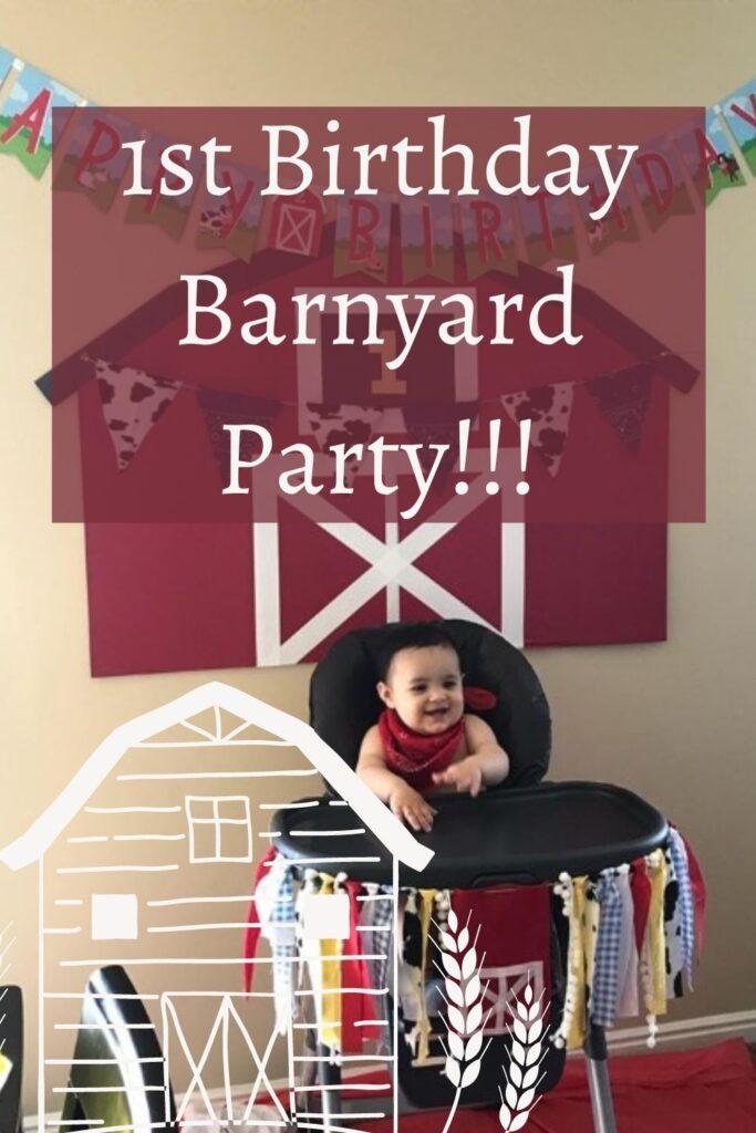 1st Birthday Barnyard Party