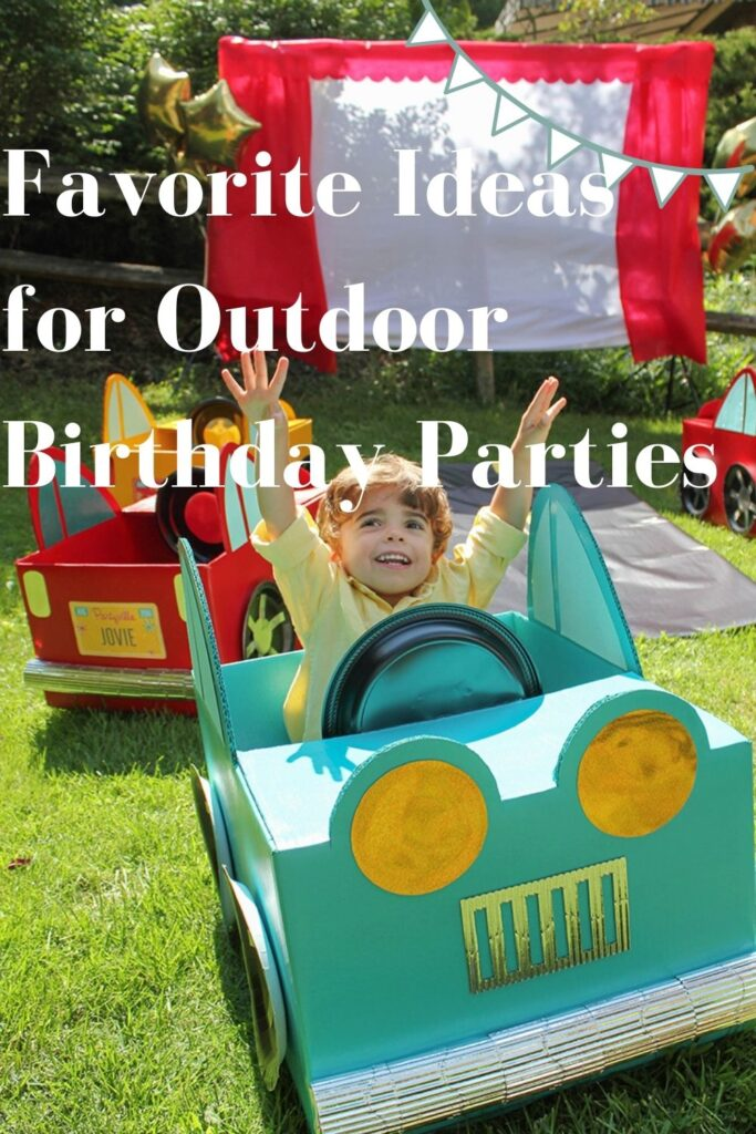 Favorite Ideas for Outdoor Birthday Parties this Summer
